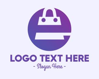 Online Shopping - Online Shopping Bag logo design