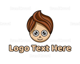 Boy - Stylish Young Boy logo design
