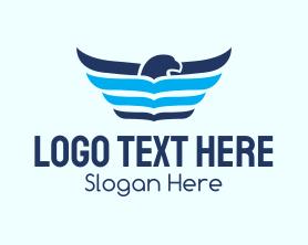 Brand - Winged Eagle Book logo design