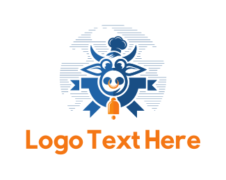 Cow - Flying Cow logo design