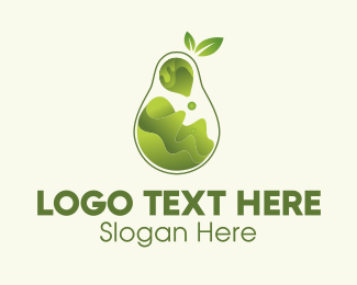 Lava - Pear Fruit Juice  logo design