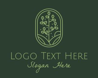Bush - Green Minimalist Sapling logo design