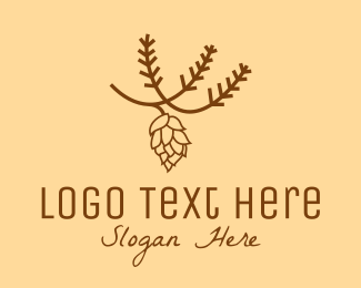 Organic Product - Brown Pinecone Outline logo design