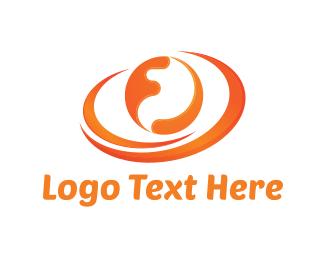 Earth - Orange Sphere logo design