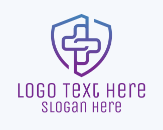 Health Insurance - Medical Cross Emblem  logo design
