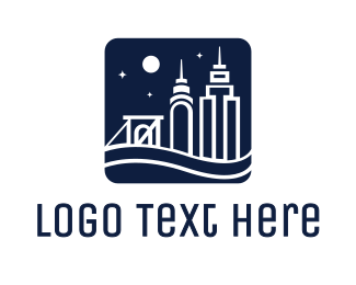 New York - Midnight New York logo design