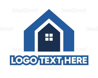 Shape - Blue Shape House logo design