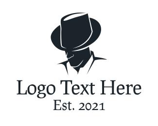 Detective - Fedora Man Detective logo design
