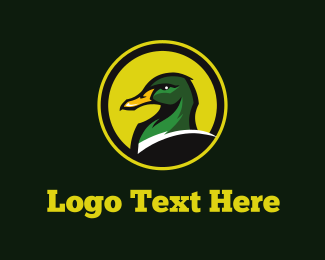 Pond - Green Duck logo design