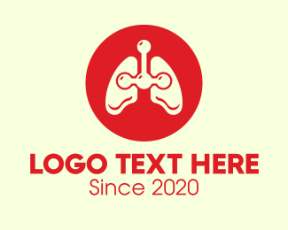 Impulse - Red Respiratory Lungs logo design
