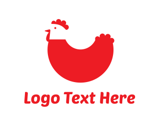 Farm - Red Chicken logo design