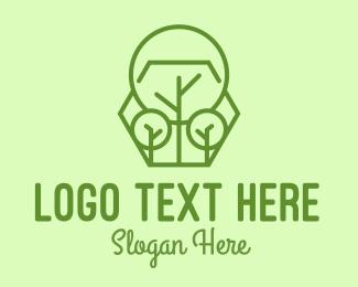 Reborn - Geometric Plant Linear logo design