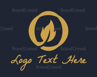 Therapeutic - Oak Leaf O logo design