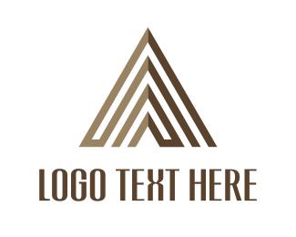 Brown Arrow - Brown Pyramid logo design