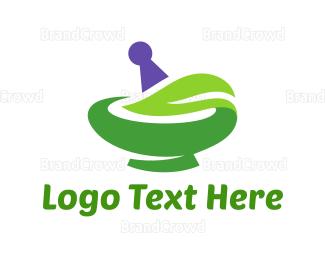 Mortar - Natural Pharmacy logo design