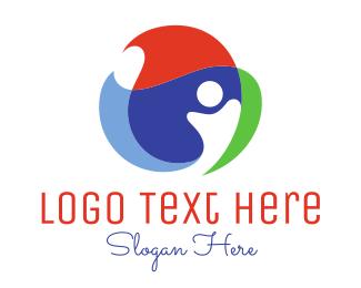 Overlap - Global Person logo design