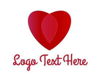 Wedding - Red Heart logo design