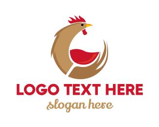 Night Club - Rooster Wine logo design