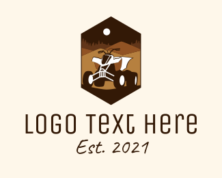 Riding - Desert Quad Biking  logo design