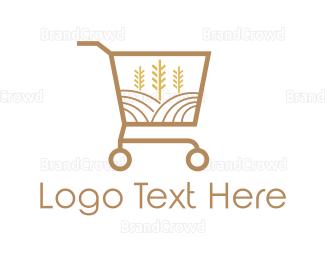 Cart - Grain Market logo design