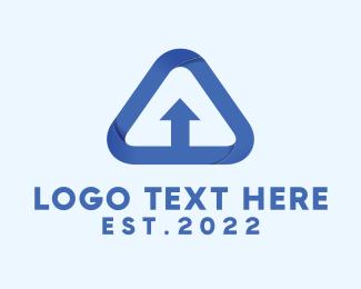 Transfer - Upload Letter A logo design