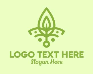 Yogi - Green Yoga Leaf  logo design