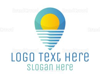 Resort - Sunny Resort App logo design
