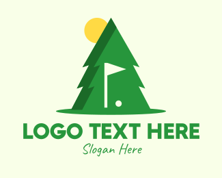 Golf Ball - Pine Tree Golf Course logo design