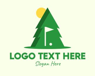 Golf Course - Pine Tree Golf Course logo design