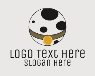 Dalmatian - Pet Collar Veterinary logo design