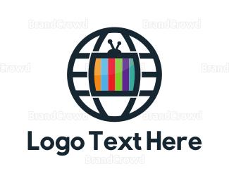 Globe - Media Globe logo design