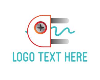 Voltage - Electrical Plug logo design
