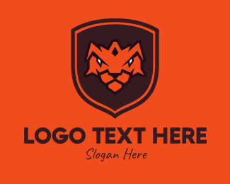 Jungle Animal - Tiger Shield logo design
