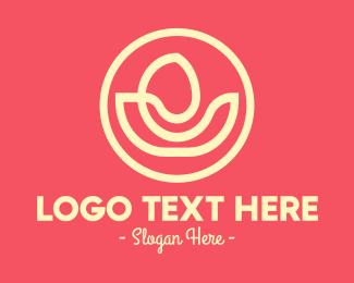 Minimal - Yoga Flower Spa logo design