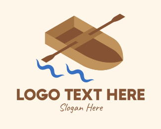 Row - Isometric Row Boat logo design