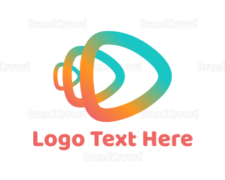 Agency - Abstract Play Symbol logo design
