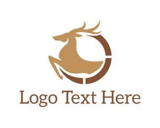 Moose - Elegant Deer logo design