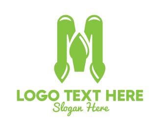 Green Vegetable - Green Spade M logo design