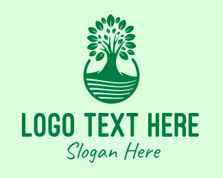 Mangrove - Green Growing Tree  logo design