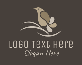 Nightingale - Peaceful Aviary Bird logo design