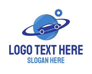 Blue Car - Blue Car Planet World logo design