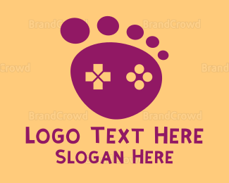Remote - Brown Foot Step Controller logo design