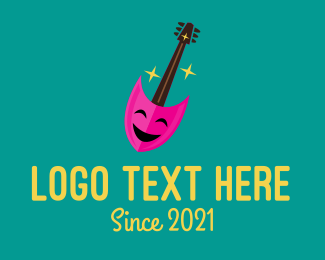 Thespian - Guitar Musician Entertainment logo design