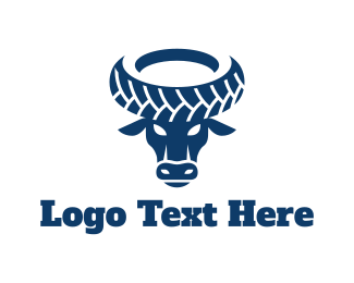 Bull - Wheel Bull logo design