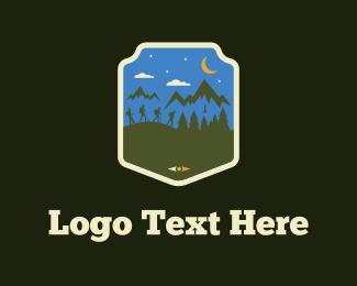 Pine Tree - Hike Team logo design