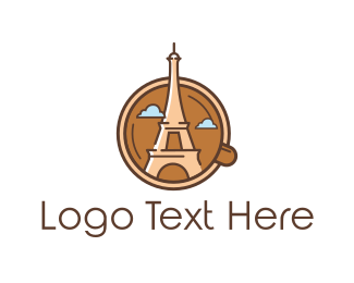 France - Eiffel Mug logo design