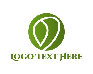 Green Circle - Leaf Circle logo design