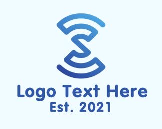 Technology - Wifi Signal Letter S logo design