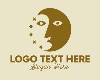 Astrology Face  Logo