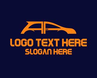 Auto Shop - Black Car logo design